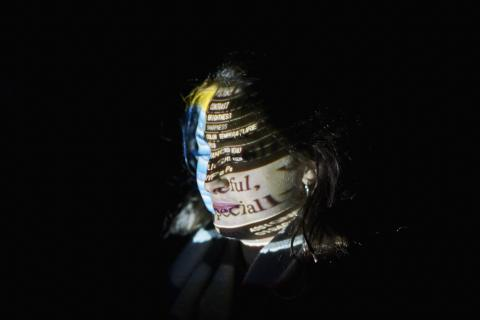 Random Acts Projection onto face