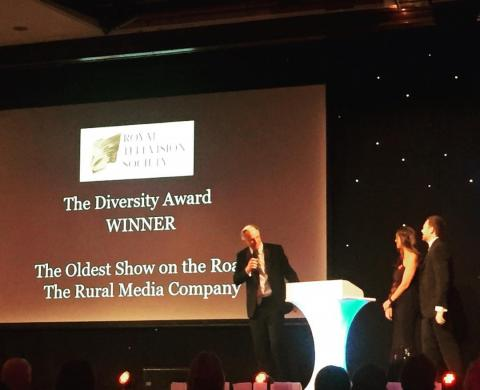 Rural Media CEO Nic Millington and Creative Director Grant Black collect the RTS Diversity Award