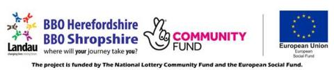 BBO Herefordshire is funded by the European Social Fund and The National Lottery Community Fund