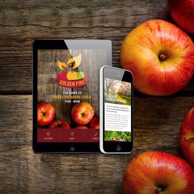 Golden Fire smartphone and tablet Herefordshire cider app